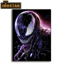 Novo kit de pintura diamante 5d veneno marvel spiderman diamante bordado ponto cruz diy strass mosaico decoração da parede(China)