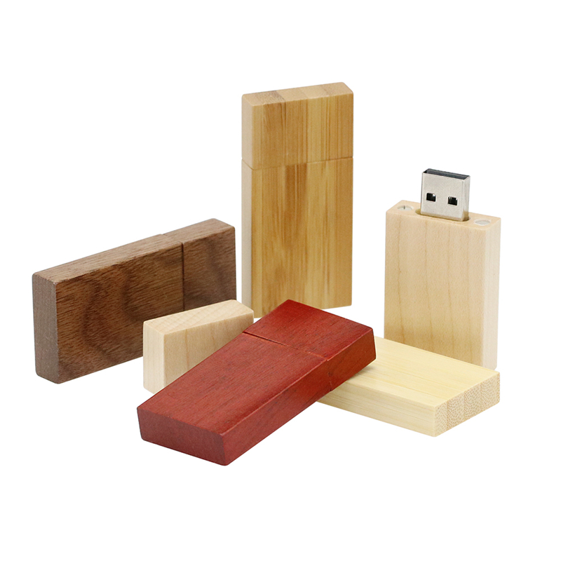 Rectangle Wooden USB Teacher Flash Drive Business Office Gift Pendrive 32GB 64GB 128GB 16 8 256 GB 4GB Pen Drive Memory Stick