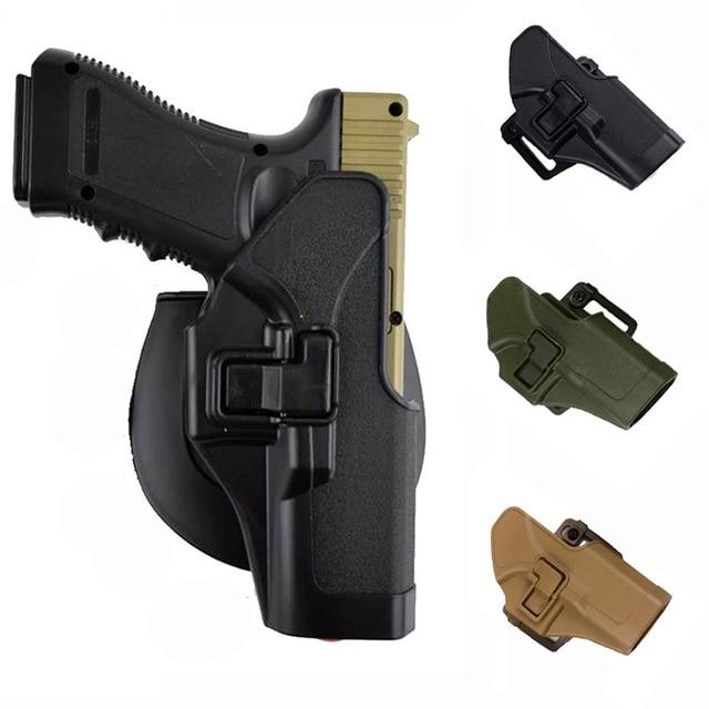 Tactical Pistol Glock Holster With Gun Sling MOLLE Platform Magazine Pouch Airsoft Belt Gun Holster For Glock 17 19 22 23 31 32