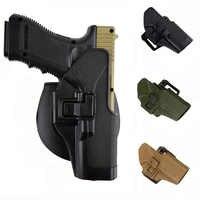 Taktische Pistole Glock Holster Mit Gun Sling MOLLE Plattform Magazin Pouch Airsoft Gürtel Pistole Holster Für Glock 17 19 22 23 31 32