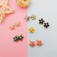 10 шт хрустальные цветы Подвески соединители diy Серьги Ожерелье