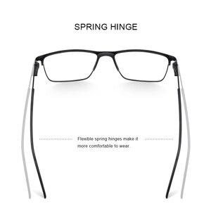 Image 3 - MERRYS DESIGN Men ไทเทเนี่ยมกรอบแว่นตาแฟชั่นชายสแควร์ Ultralight สายตาสั้นแว่นตา S2001