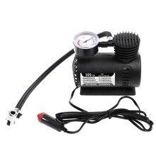 300 psi 12v carro portátil mini compressor de ar elétrico pneu inflator bomba com calibre w91f