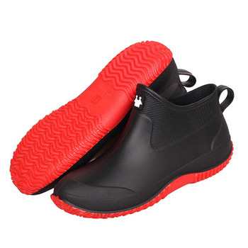 Swonco Men Rubber Shoes Waterproof Rain Boots 2020 Autumn New Male Short Ankle Boots Waterproof Rianboots Shoes 6