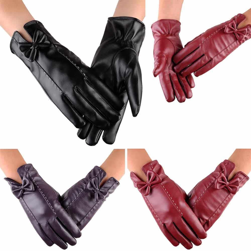 Carprie luvas mulheres leater condução à prova dwaterproof água luvas de dedo cheio tela toque luva moto cruz guantes moto rbike