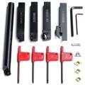 5 шт. 16 мм хвостовик поворотный держатель набор инструментов с лезвием гаечный ключ для токарного станка и ЧПУ токарный инструмент