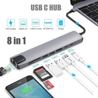 USB C HUB Type C Adapter with 4K USB C to HDMI-compatible Ethernet 100mbps 2 USB 3.0 Ports USB-C PD for for iMac air MacBook Pro
