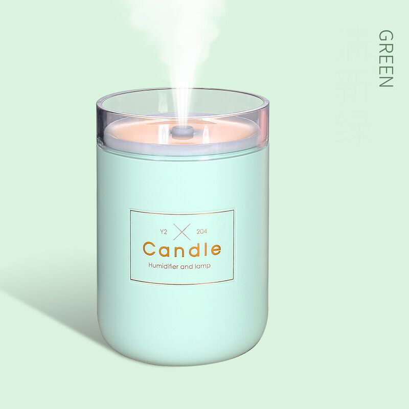280ML Air Humidifier LED Candle Ultrasonic Cool Mist Essential Oil Diffuser USB Aroma Lamp Car Purifier Fogger Mist Maker H