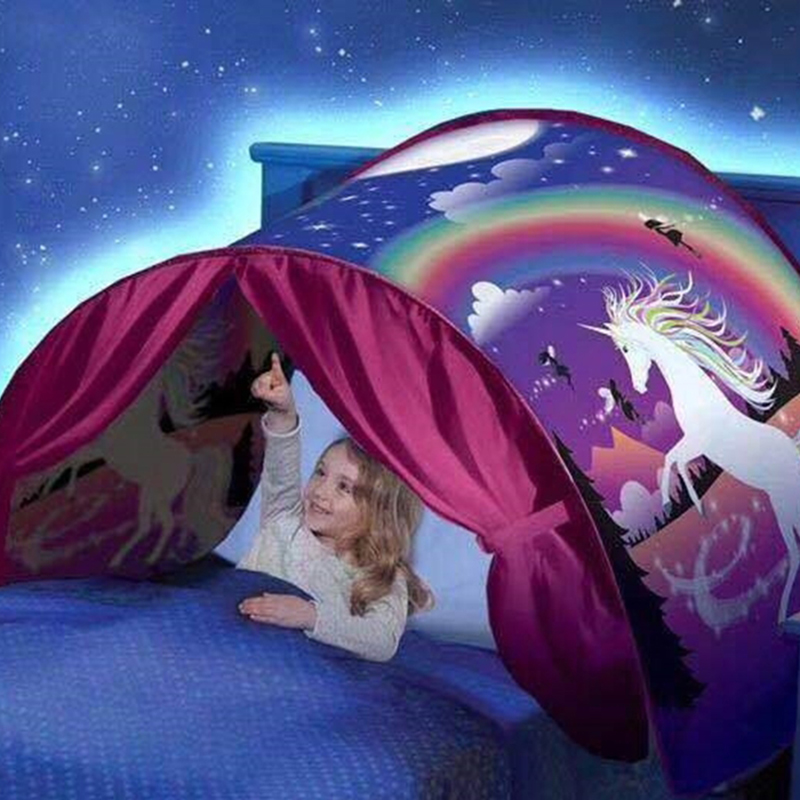 Children's Starry Dream Bed Tent Children's Bed Folding Light-blocking Tent Indoor Bed Mosquito Net Bed Canopy Baby Room Decor