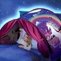 Crianças Estrelado Sonho cama tenda Cama de Criança Dobrável Luz-bloqueio Tenda Indoor Cama Mosquito cama de dossel Net decoração do quarto do bebê