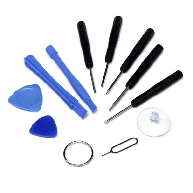 Profesional 11 en 1 teléfonos móviles apertura Pry reparación Kits de herramientas Smartphone herramienta destornilladores Set para iPhone Samsung HTC Moto Sony
