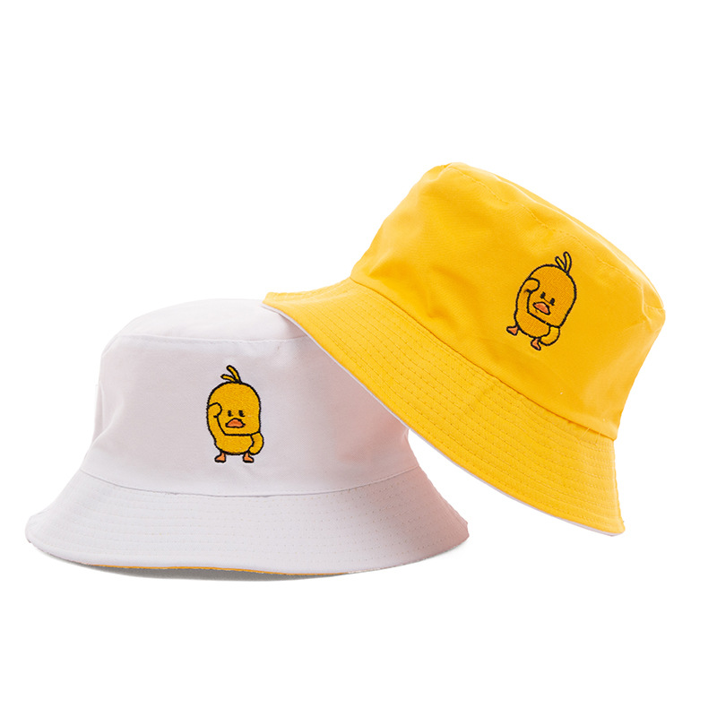 fashion casual duck Sun hat letter Bucket Hat men women duck Bob Hip Hop Caps Summer Panama sad boys fold two sided beach hat(China)