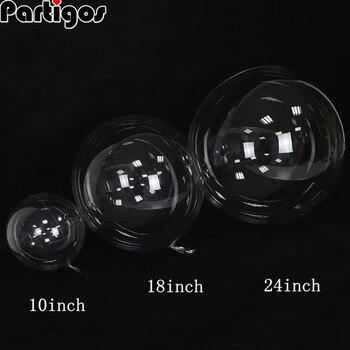50 Uds 10/20/24/36 pulgadas globo transparente sin arrugas Bobo decoración de fiesta de cumpleaños de boda globo de helio inflable