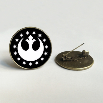 Vintage Star wars brooch New Republic Pendant, Glass round jewelry Anchor brooch Jewelry image