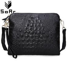 Women Bag Genuine Leather Cowhide  Messenger s Crossbody Shoulder  Ladies Clutch Crocodile Pattern Small Handbag стоимость