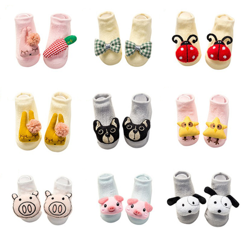 Cute Cartoon Baby Socks Anti Slip Floor Kids Toddlers Autumn Spring Animal Soft Sock Baby Clothes Accessories Newborn 6 24 Month in Socks from Mother Kids