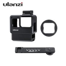 Ulanzi V2 Pro Sports Camera Cage Vlog Case Protective Cage Microphone Video Light 52mm Filter Mic Adapter for GoPro Hero 7 6 5