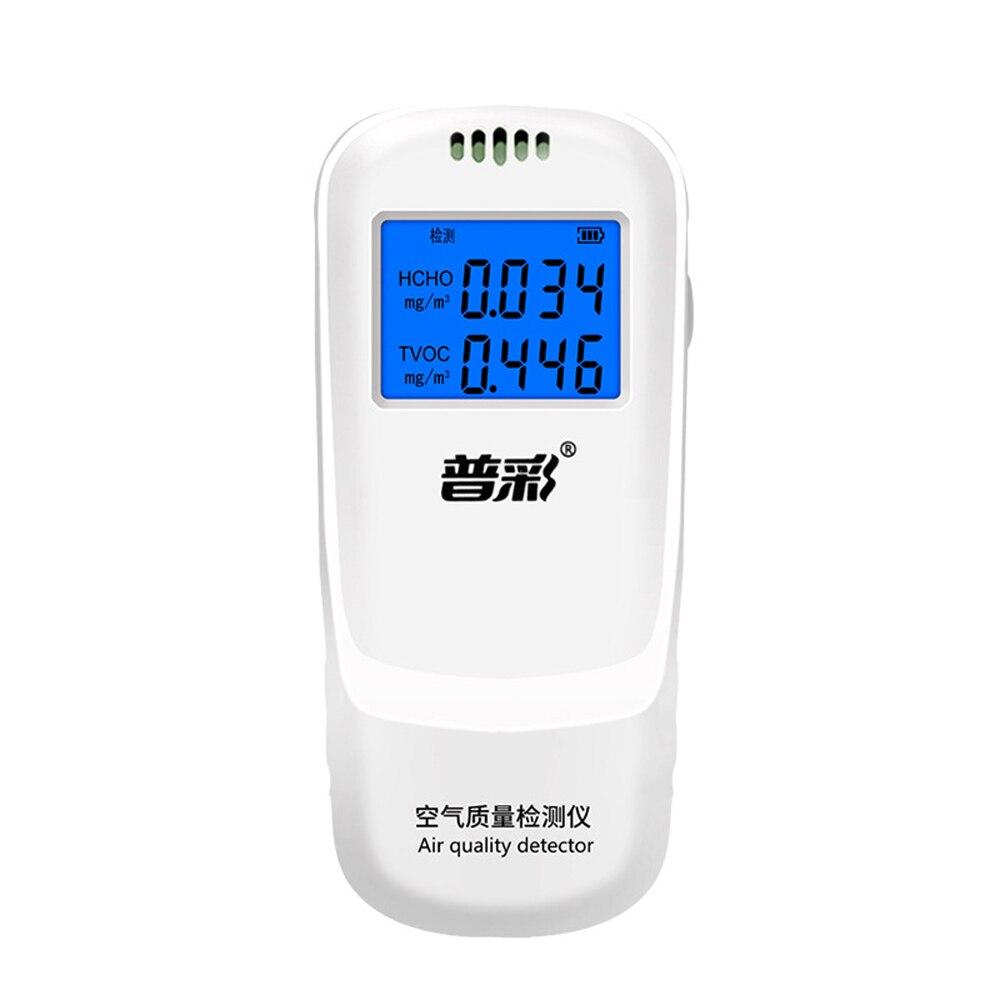 LCD formaldehit dedektörü çok fonksiyonlu ev hava dedektörü akıllı hava kalitesi analizörü ev hava kirliliği monitörü