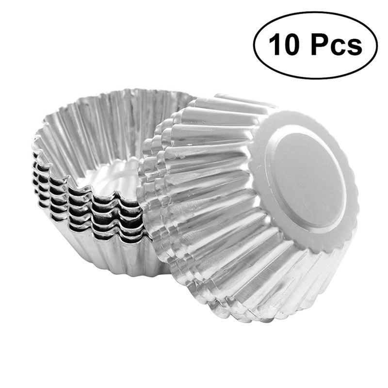 10 шт./лот, форма для пирожных/яиц, форма цветка, антипригарная пульсация, алюминиевый многоразовый кекс, высокое качество, формы для выпечки, инструменты|Принадлежности для выпечки|   | АлиЭкспресс