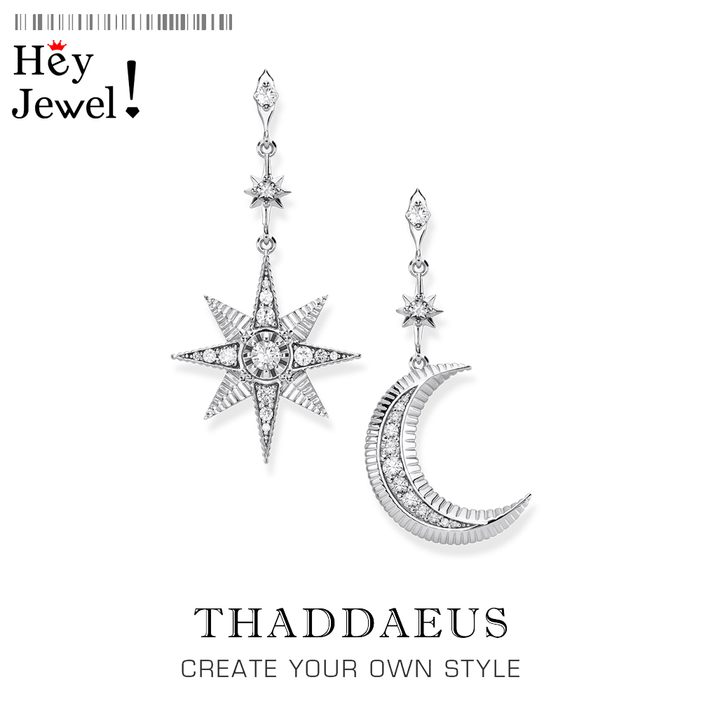 Magical Star & Moon Drop Earrings,Thomas Fashion Boho Look Jewelry For Women,2020 Summer New Ts Sterling Silver 925 Vintage Gift