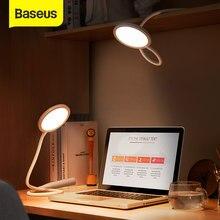 Baseus – lampe de Table Flexible et Rechargeable LED, Flexible et Flexible, idéale pour un bureau, une chambre à coucher, une étude ou une lecture
