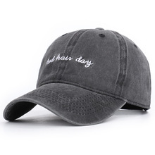 цена на Amazon Hot Style Bad Hair Day, Day Letter Embroidery Baseball Cap Washing Do Old Restoring Ancient Ways
