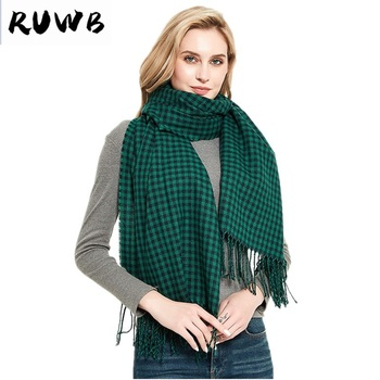 Autumn Winter Female Plaid Scarf Women fashion Cashmere Scarves Lattices Long Tassel Shawl Wrap Blanket Warm Tippet