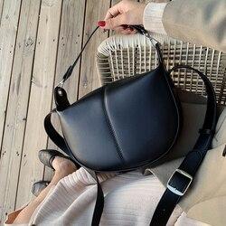 Sacos de sela de couro do plutônio da cor sólida para as mulheres 2020 pequena senhora ombro saco do mensageiro bolsas e bolsas de viagem femininas