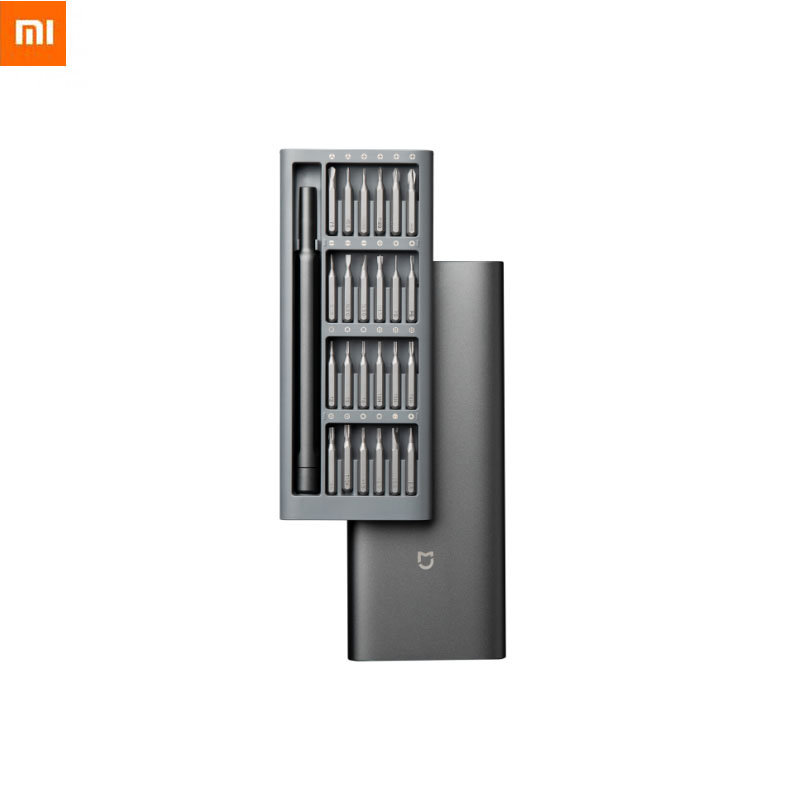 Xiaomi Mi Daily Use Screwdriver Kit Refined And Minimalist 24 Precision Magnetic Bits Alluminum Box Screw Driver For Smart Home|Smart Remote Control| - AliExpress