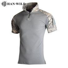 Мужская Военная тактическая футболка быстросохнущая с коротким