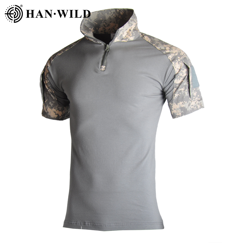 Men Military Tactical T Shirt Quick Dry T-shirt Short Sleeve Camouflage Army Tshirt Breathable Hiking Trekking Hunting 13 Color