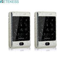 Retekess 2 Chiếc T AC01 RFID Điều Khiển Truy Cập Bàn Phím Cảm Ứng Cửa Điều Khiển Truy Cập Hệ Thống 125 Khz Kdl Kim Loại Vỏ Đèn Nền f9503D