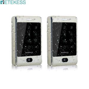 Image 1 - Retekess 2 шт. T AC01 RFID Контроль доступа сенсорная клавиатура система контроля допуска к двери 125 кГц KDL металлический чехол Корпус подсветка F9503D
