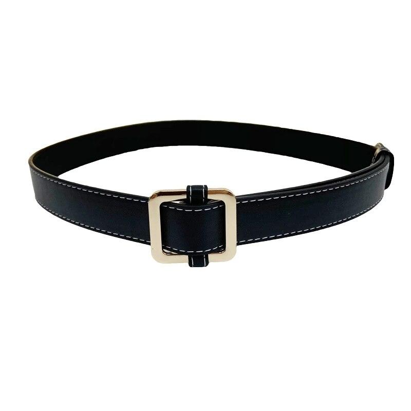 Venta al por mayor, cinturón negro para mujer, Falda vaquera informal combinable con todo, cinturones sin agujeros, decoración femenina, tres colores, 10 Uds.