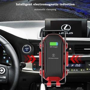 Image 4 - Dokunmatik sensör kablosuz araba şarjı Qi hızlı şarj araç tutucu için Huawei P30Pro Mate20PRo iphone XR XS