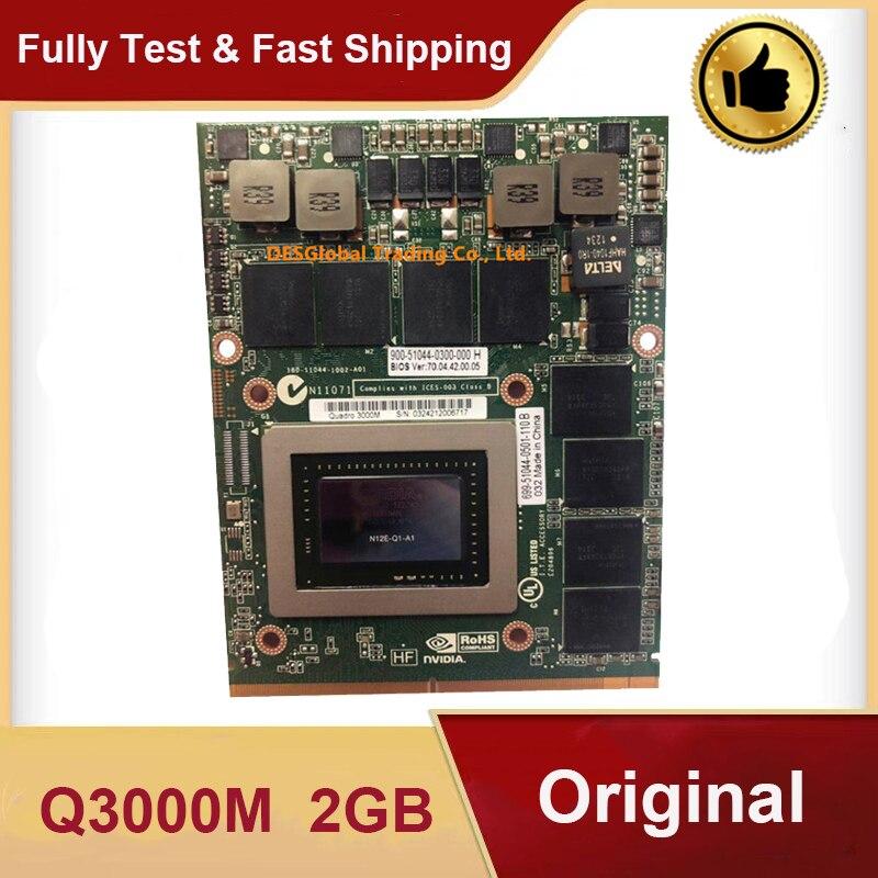 Original Q3000M Quadro 3000M 2GB VGA Graphics Video Card N12E-Q1-A1 for Dell M6600 M6700 M6800 HP 8760W 8770W 8740W Fully Test