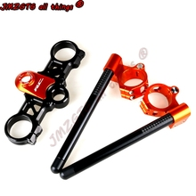 Racing CNC Clip On Handle Bars For KTM RC200 RC390  2014 2020 Clip On Handle Bars Black