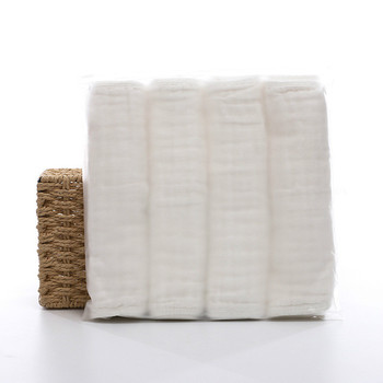 28*50cm/4 strips baby wash towel 100% cotton gauze soft newborn wipes baby towel baby face body care towel white gauze towel 100 pcs soft dry cotton wipes maternity baby tissue safe hygiene sensitive skin cleaning towel portable