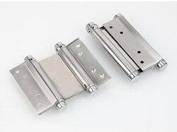 2 sztuk 3 Cal podwójne drzwi zawias szuflada szafki zawias drzwi huśtawka zawiasy ze stali nierdzewnej ze śrubami narzędzia ręczne Hardwar
