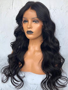 Finmoo Human-Hair-Wigs Lace-Wig Silk Base 4x4 Wavy with Baby Brazilian 13x4 Pre-Plucked