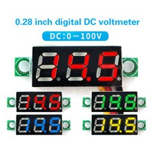 1Pcs 0.28 inch Digital LED Mini Display Module DC 2.5V-30V DC 0-100V Voltmeter Voltage Test