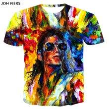 Michael Joseph Jackson 3D T-shirts Harajuku Men Women t shirts Short Sleeve Print Summer women Fashion T-shirt Doodling