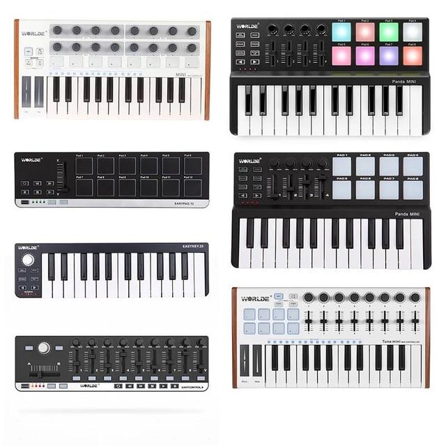 WORLED חדש MIDI מקלדת בקר מיני USB מקלדת שליטת MIDI MIDI בקר מקלדת רפידות 7 סגנונות לאפשרות