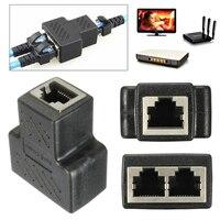 RJ45 Splitter Adapter Stecker 1 zu 2 Weibliche Ports für KATZE 5/KATZE 6/KATZE 7 LAN Ethernet kabel Buchse Splitter Hub PC Laptop Mac-in Stecker & Verbinder aus Verbraucherelektronik bei