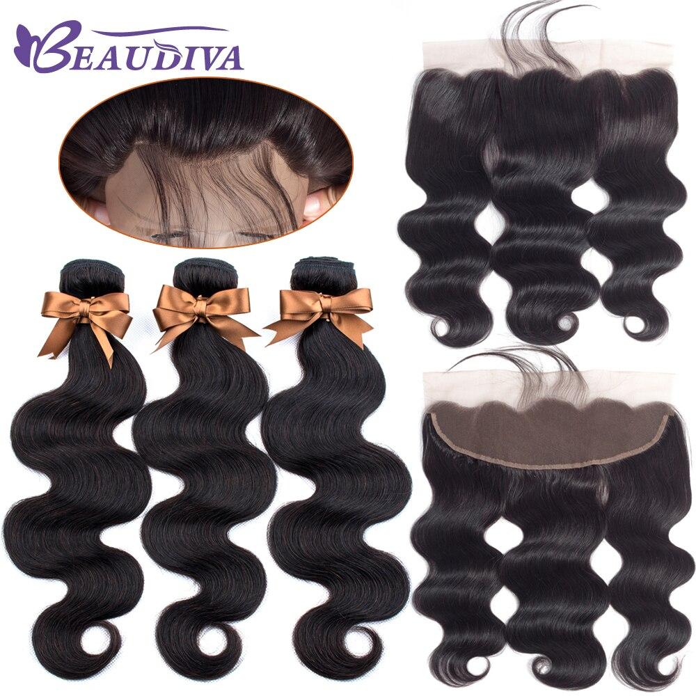 H3f16c02ae39d4106bb69ef4537316e81p Brazilian Hair Weave Bundles With Frontal Beaudiva Hair Brazilian Body Wave Human Hair Bundles With Lace Frontal Closure