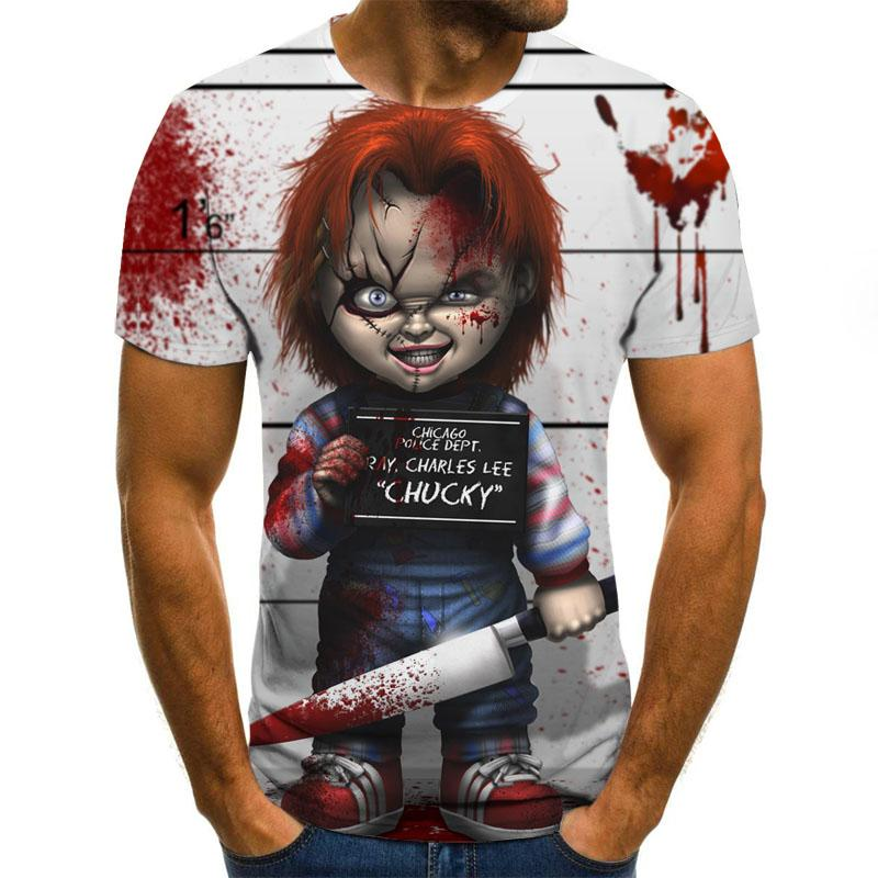 Hot selling letter series 3D printed men's T-shirt round neck short sleeve funny T-shirt casual 3D T-shirt and top