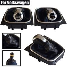 For VW Volkswagen Golf 5/6 MK5/6 Scirocco(2009) Octavia Manual Gear Shift Knob Lever Stick Pen 5 6 Speed Hand Ball Car Styling