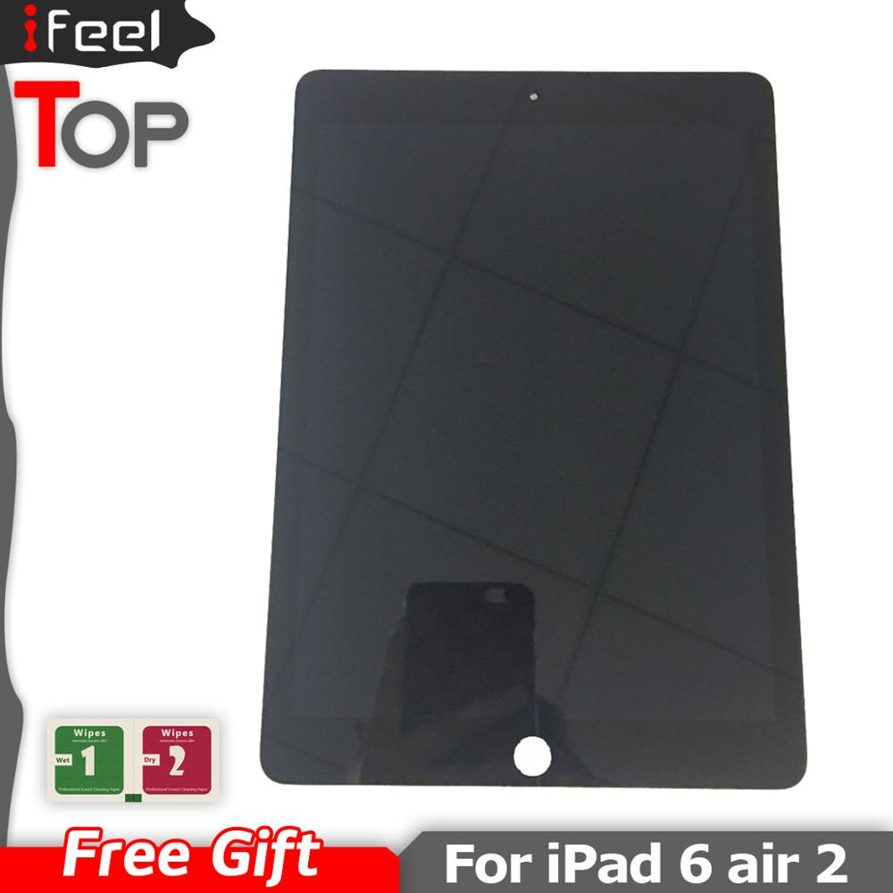 LCD For Apple IPad 6 Air 2 A1567 A1566 9.7'' LCD Display Touch Screen Digitizer Assembly Replacement Free Shipping