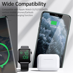 Image 3 - USAMS 3 in 1 Qi Wireless Charger สำหรับ iPhone X XS MAX XR 8 Fast Wireless CHARGING Pad สำหรับ Airpods 2019 Apple 5 4 3 2 1