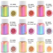 Espelho camaleões resina pigmento perolescente resina cola epoxy mágica descoloração em pó